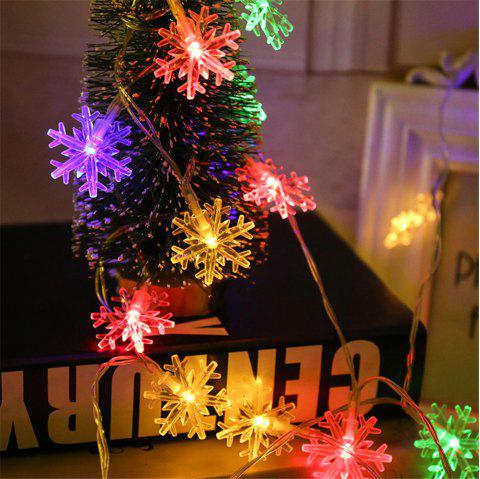 LED Lantern Snowflake Strings Birthday Party Christmas 10 Meters - multicolor