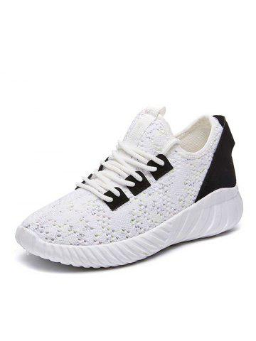 47f683e2d27d Spring and Summer Knitted Mesh Breathable Flat Bottom Non-Slip Shoes