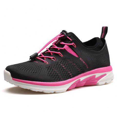 HUMTTO Women Running Shoes Breathable Light Weight Comfortable TPU Casual Shoes - BLACK EU 40