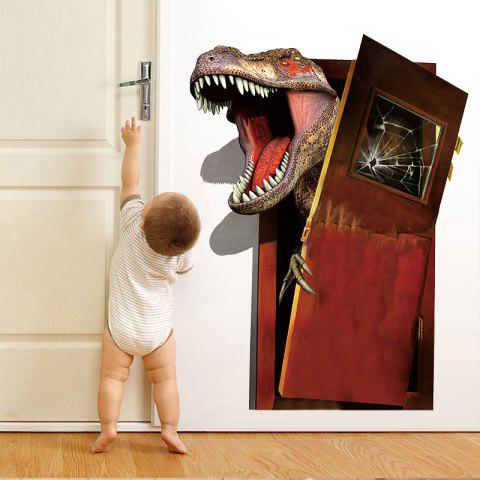 3D Broken Wall Dinosaur Children'S Room Bedroom Wall Sticker - multicolor 1PC