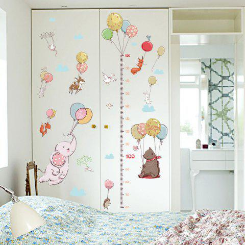 Balloon Animal Height Stickers Children'S Room Bedroom Classroom Wall Stickers - multicolor 1PC