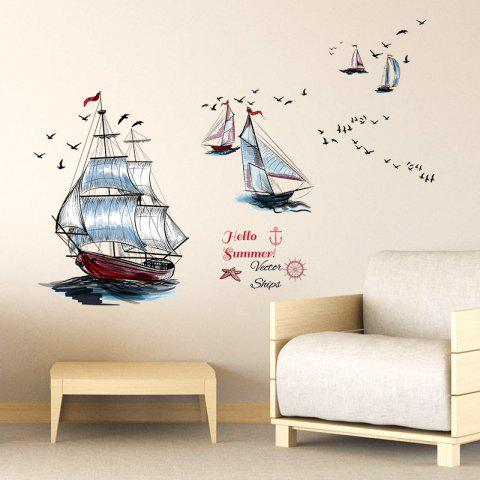 Environmentally Friendly PVC Sailing Sticker Home Decoration Stickers - multicolor 1PC