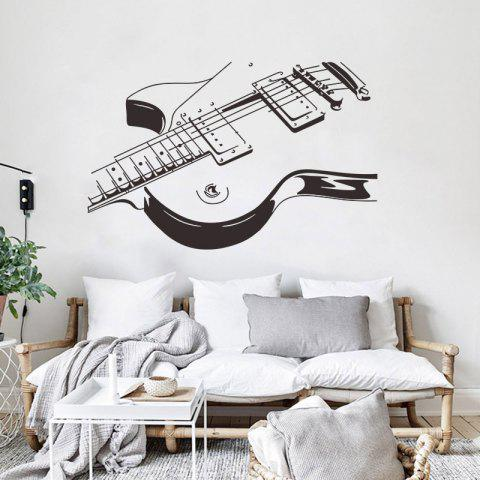Music Guitar Bedroom Large Decorative Wall Stickers - BLACK 1PC
