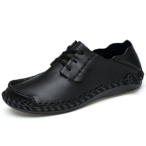 2019 Men Casual Shoes Handmade Genuine Leather Driving Shoes Man Big