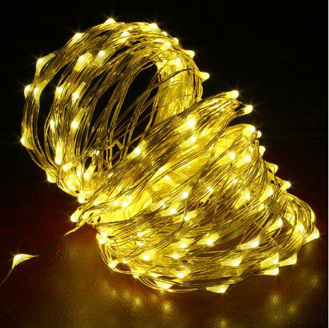 DC12V 20M Copper Wire Lamp Outdoor Starry Sky Birthday Party LED Lights String - WARM WHITE 20M