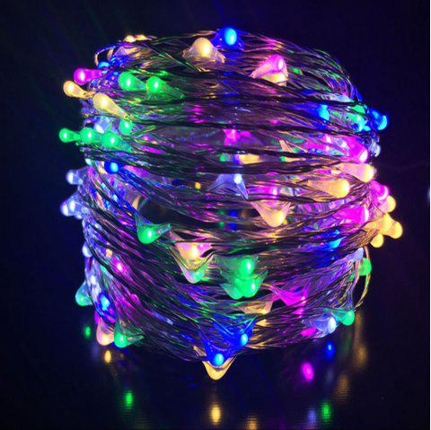 DC12V 30M Copper Wire Lamp Outdoor Starry Sky Birthday Party LED Lights String - multicolor 30M