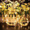 DC12V 30M Copper Wire Lamp Outdoor Starry Sky Birthday Party LED Lights String - WARM WHITE 30M