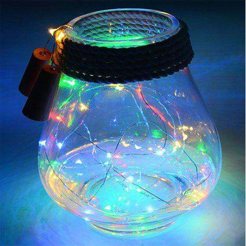 5 PCS 2M Solar Light LED Lantern String Cork Light Wine Bottle Light Gift Light - multicolor 5PCS