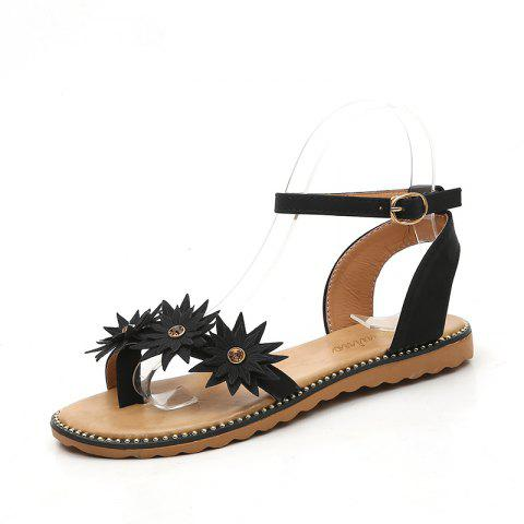 d3234e64274a 2019 Flat Bottom Fashion Star Girl Sandals D258 In BLACK EU 39 ...