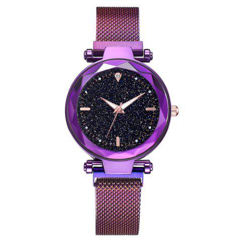 XR3262 Women'S Watch Fashion Noble Starry Sky Watch Luminous Watch Quartz Watch - PURPLE