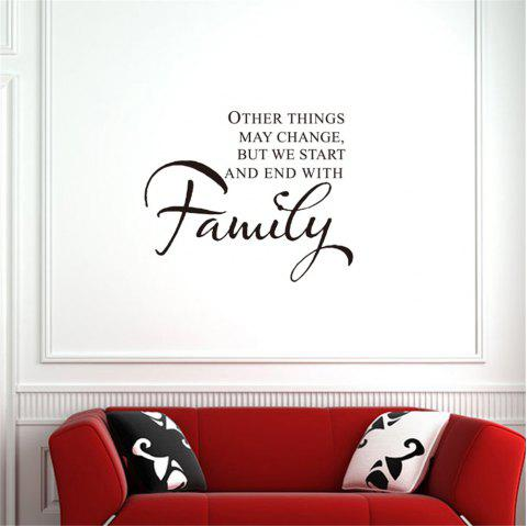 Other Things May Change Art Apothegm Home Decal Wall Sticker - BLACK 47*57CM
