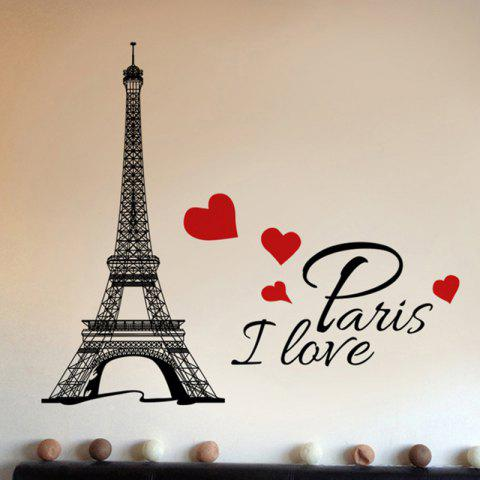 Home Art Decoration Removable English Letter Wall Sticker - multicolor 38X23CM
