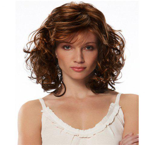 Middle-Aged Women'S Short Curly Facial Wig - DEEP BROWN 1 SET