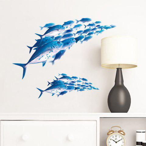 Home Art Decoration Shoal of Fish Removable Wall Sticker - multicolor 58X30CM