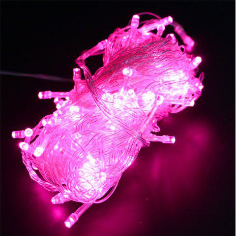 UK Plug 220V LED Lanterns Gypsophila Firefly Stars Light Strings 20M 200 Lights - PINK 20M 200LED
