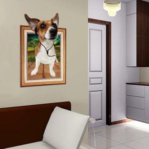 3D Dog Photo Frame Childrens Room Bedroom Living Room Decorative Wall Stickers - multicolor 1PC
