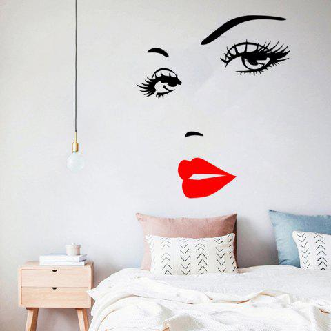Sexy Eyelashes Goddess Living Room Bedroom Background Foreign Trade Wall Sticker - multicolor A 1PC