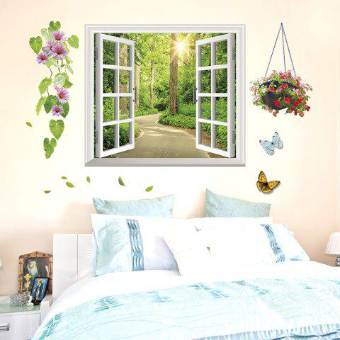 3D  Window Shade Living Room Home Decoration Stickers - multicolor 1PC