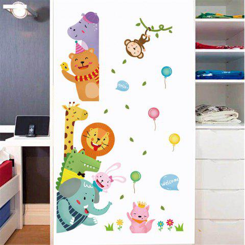 Cartoon Animal Monkey Elephant Lion Giraffe Children'S Room Wall Decoration - multicolor A 60*90CM