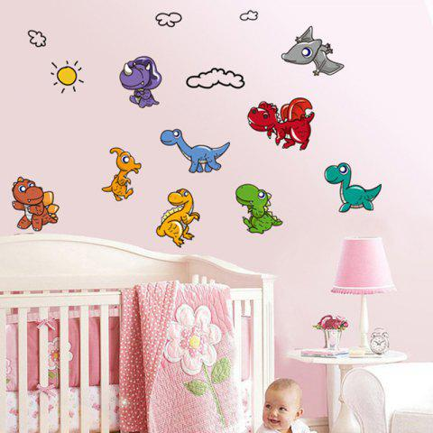 a79742881a2 41% OFF  2019 Cute Dinosaur Pattern Removable Wall Sticker In ...
