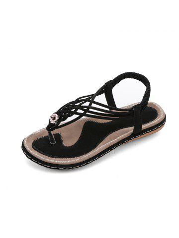 a3cde94cd Flat Bottom Fashion Pin Female Sandals A88