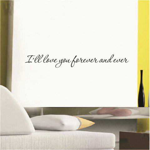 Art Apothegm Home Decal Removable Wall Sticker - BLACK 7.5*57CM