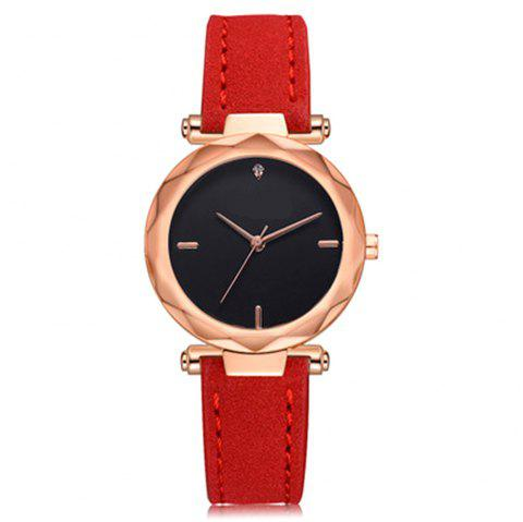 Quartz Watch Fashion Leisure Women Students Watch - multicolor E