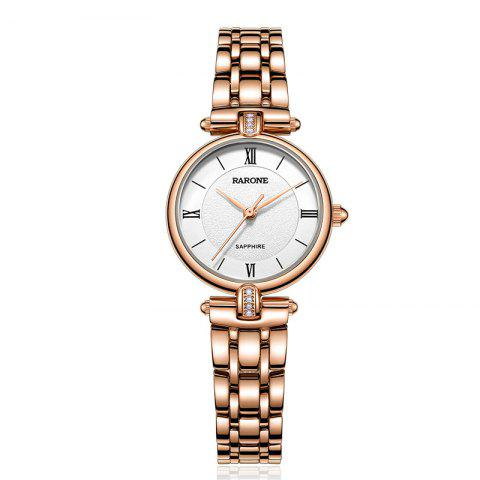 Rarone Factory Luxury 316L Stainless Steel Lady Wristwatches - GOLD 1PC