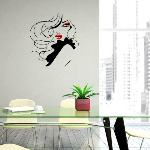 Red Lips Creative Home Sticker Living Room Wall Decoration - multicolor A 55*63CM