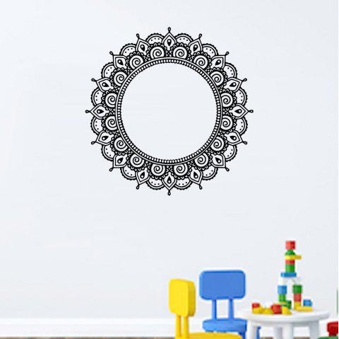 Mandala Ring Sticker Creative Decoration Sticker for Home Wall Removeable - BLACK 59*59CM