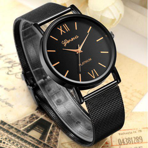 Fashion Casual Watches Women GENEVA Classic Quartz Stainless Steel Watch - multicolor A