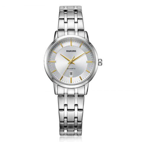 High Quality Sapphire Gold Quartz Lady Wrist Watch - WHITE 1PC