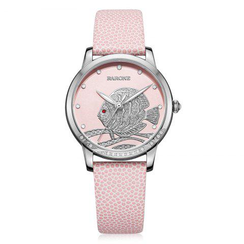 Fashionable Waterproof Advertising Quartz Lady Wrist Watch - PINK 1PC