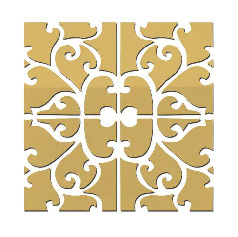 3D Pattern Mirror Wall Stickers Background Wall Home Decoration Environmental - GOLD