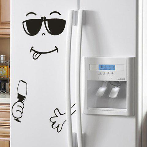 Creativity Happy Face Refrigerator Sticker PVC Waterproof Removable Wall Poster - multicolor D 20*28*0.1CM