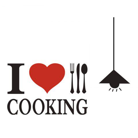 Love Kitchen Wall Sticker Restaurant Wall Decoration Wall Stickers Home Decal - multicolor 60X19.5CM