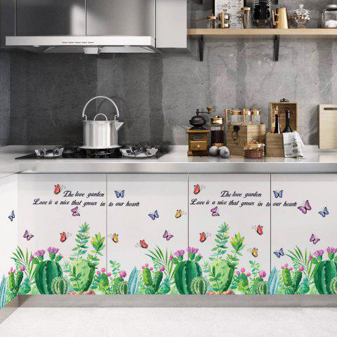 Fashion Cactus Wall Stickers Home Decal - multicolor 24 X 36 INCH