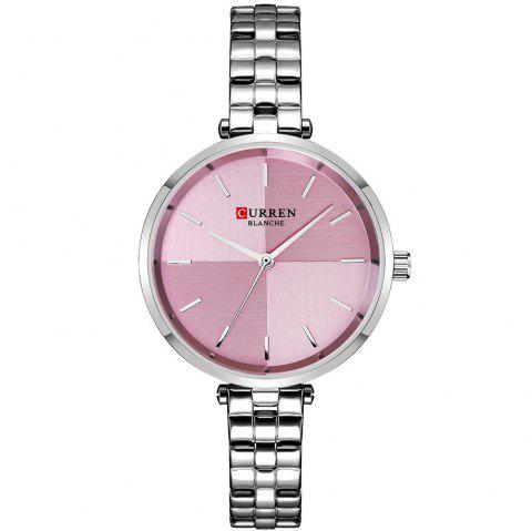 CURREN Women Watches Dress Stainless Steel Watch Ladies Analog Watch - multicolor A