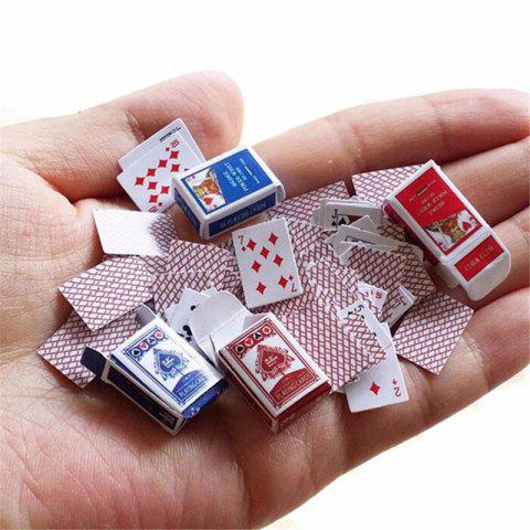 Mini Cute Poker Home Decoration Poker Cards Playing Game Creative Gift - WHITE