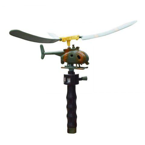 Aviation Model Copter Handle Pull Helicopter Plane Outdoor Toy - multicolor