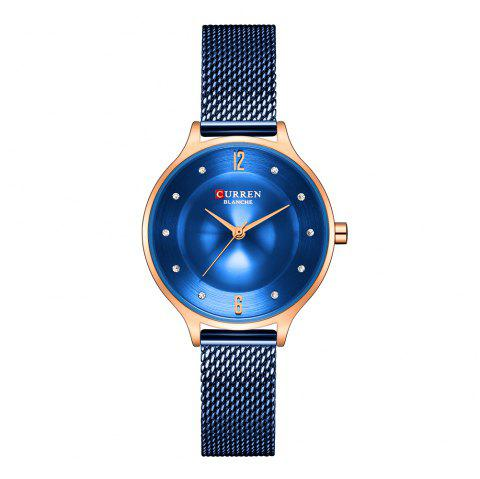 CURREN Fashion Slim Womens Watches With Rhinestone Dial  Analog Watch - multicolor D