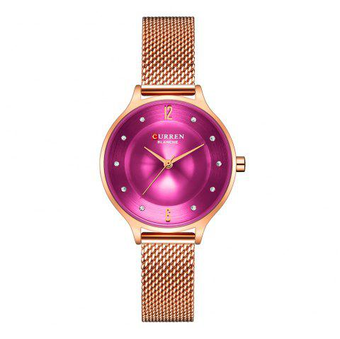 CURREN Fashion Slim Womens Watches With Rhinestone Dial  Analog Watch - multicolor C