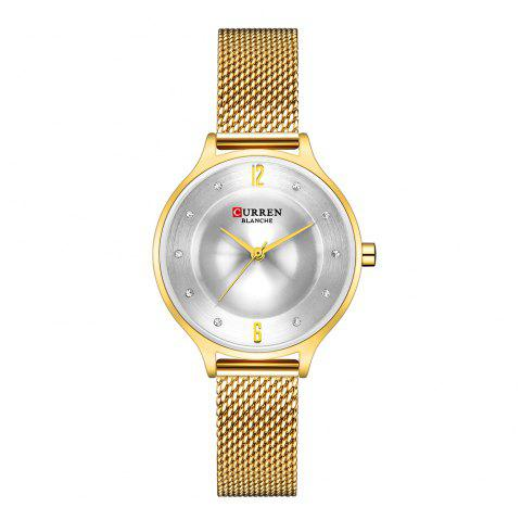 CURREN Fashion Slim Womens Watches With Rhinestone Dial  Analog Watch - multicolor A
