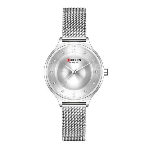 CURREN Fashion Slim Womens Watches With Rhinestone Dial  Analog Watch - multicolor E