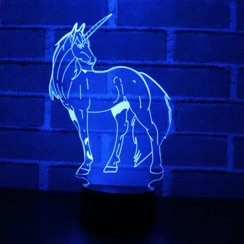 YEDUO 3D LED Night Light  Unicorn with 7 Colors Light for Home Decoration - BLACK