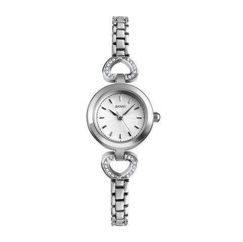 SKMEI 1408 Women'S Fashion Simple and Simple Wild Quartz Watch - SILVER