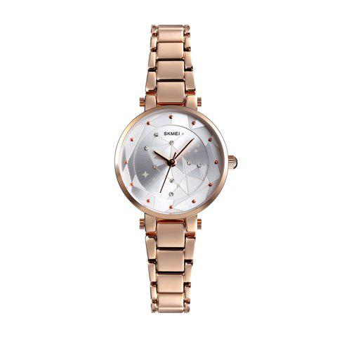 SKMEI 1411 Women'S Sleek Minimalist Diamond Quartz Watch - SILVER