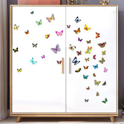 Color Butterfly Removable Wall Sticker - multicolor 45X30CM