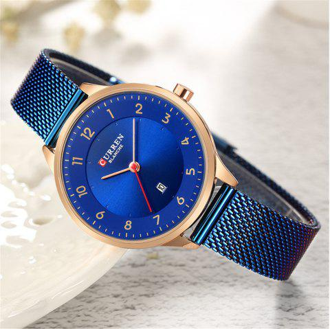 CURREN Dress Ladies Round Dial Analog Watch Fashion Quartz Watches for Women - multicolor C