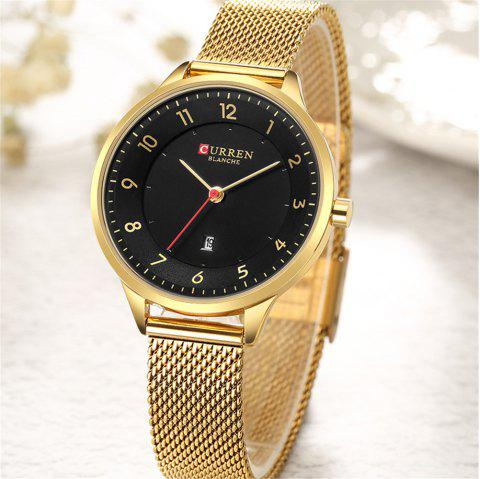 CURREN Fashion Women Watches Dress Mesh Band Analog Watch - multicolor C